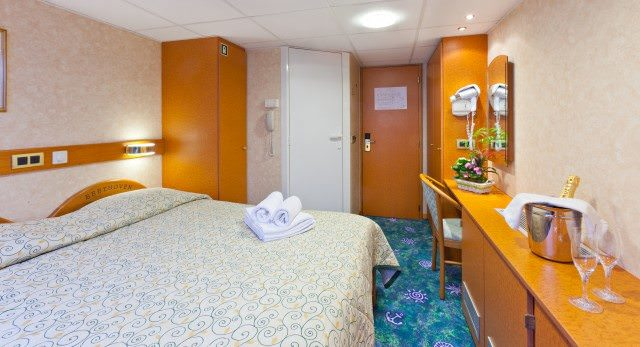 Staterooms aboard CroisiEurope's Beethoven include all the amenities cruisers have come to expect. Photo courtesy of CroisiEurope.
