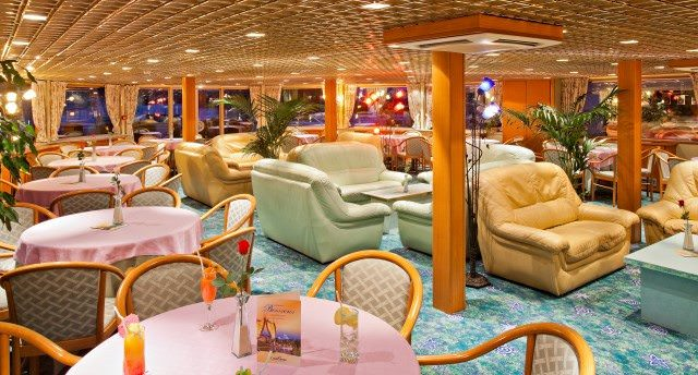 Decor and public rooms aboard the Beethoven are bright and airy. Photo courtesy of CroisiEurope.