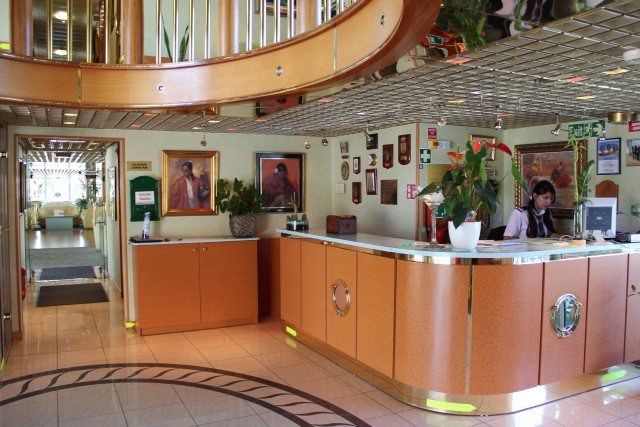 Public areas aboard Belle de Cadix are attractively decorated to create a welcoming environment onboard. Photo courtesy of CroisiEurope.