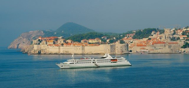 Part river cruise ship, part oceangoing vessel, CroisiEurope's Belle de l'Adriatique entered service in 2007 and can carry 200 guests. Photo courtesy of CroisiEurope.