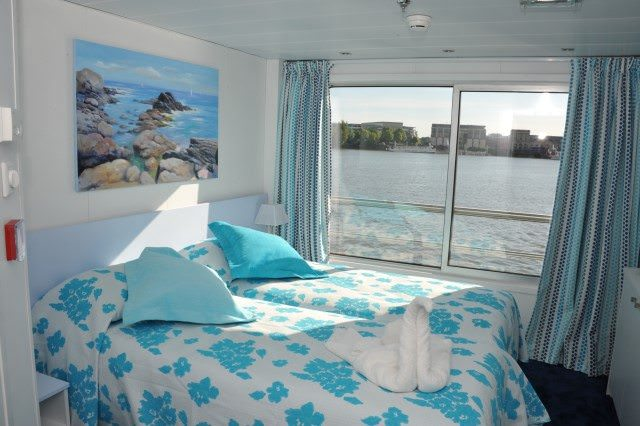 Staterooms aboard Cyrano de Bergerac are bright and fresh. Photo courtesy of CroisiEurope.