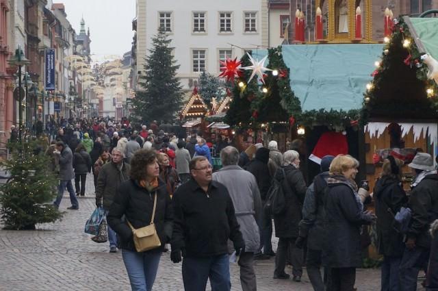 Enjoying Heidelberg Christmas Market. © 2013 Ralph Grizzle