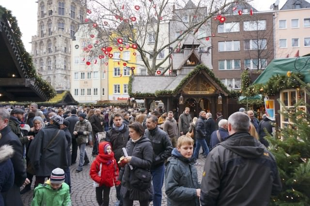 Busy Christmas Market in the old town. © 2013 Ralph Grizzle