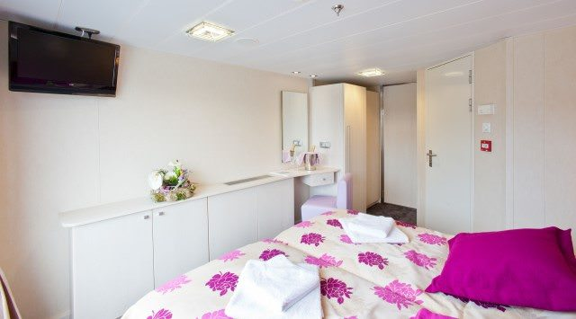 Staterooms aboard Gerard Schmitter are small but functional. Their decor is more modern than the line's previous vessels. Photo courtesy of CroisiEurope.