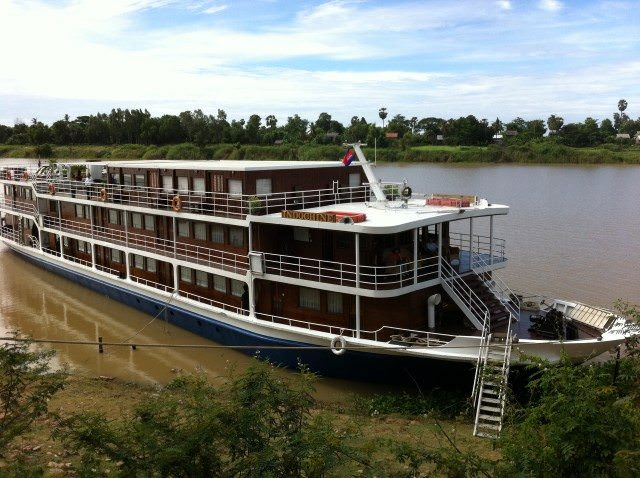 The elegant Indochine sails the Mekong through Cambodia for CroisiEurope. Photo courtesy of CroisiEurope.