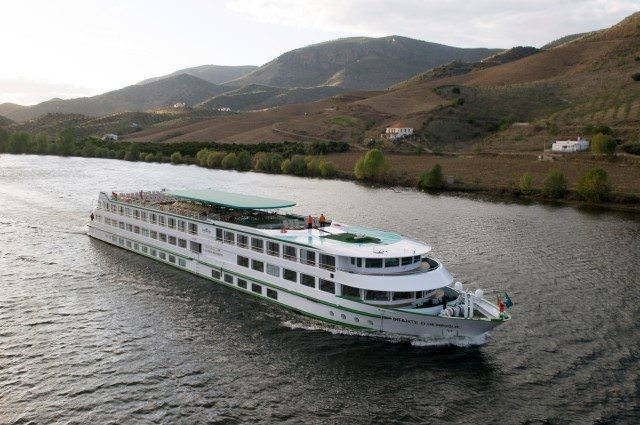 The Infante don Henrique sails through Portugal's spectacular Douro River Valley. Photo courtesy of CroisiEurope.