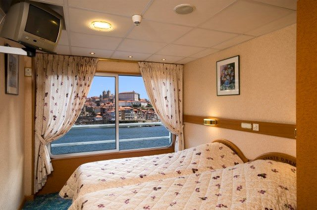 Staterooms aboard Infante don Henrique are basic, but highly functional. Photo courtesy of CroisiEurope.