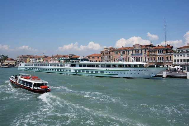 CroisiEurope's Michelangelo sails Italy's Po River. Photo courtesy of CroisiEurope.