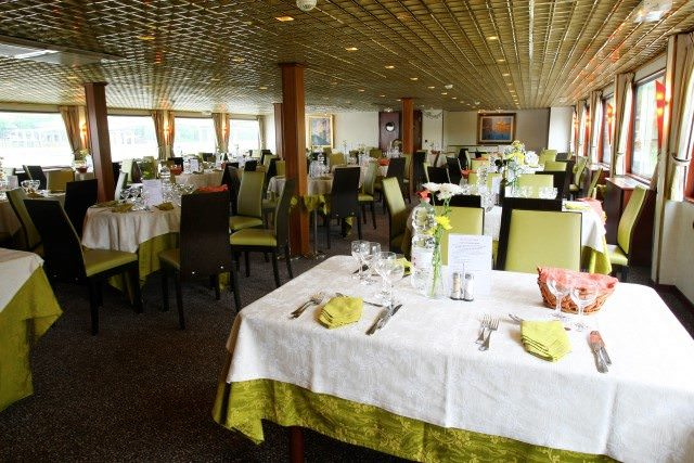 The Main Restaurant aboard Michelangelo serves up breakfast, lunch and dinner. Photo courtesy of CroisiEurope.