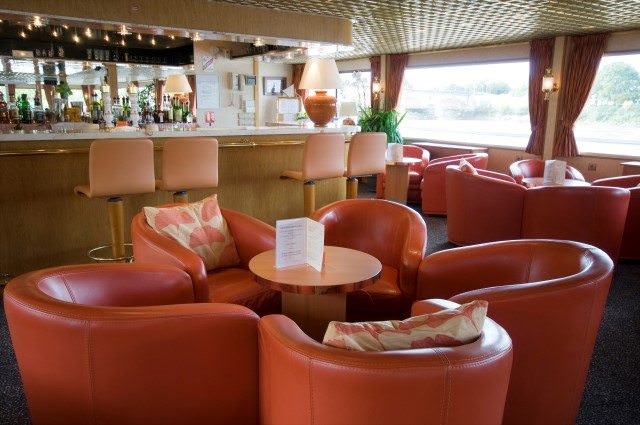 The main Lounge aboard Princesse d'Aquitaine. Photo courtesy of CroisiEurope