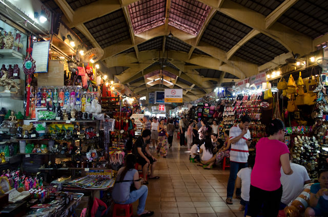 Entering Saigon's famous Central Market, which is one of the oldest in the city. Photo © 2013 Aaron Saunders