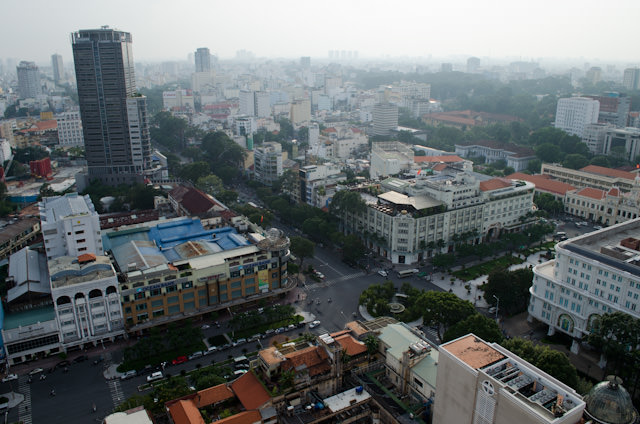 The view overlooking Ho Chi Minh City, or Saigon. Photo © 2013 Aaron Saunders