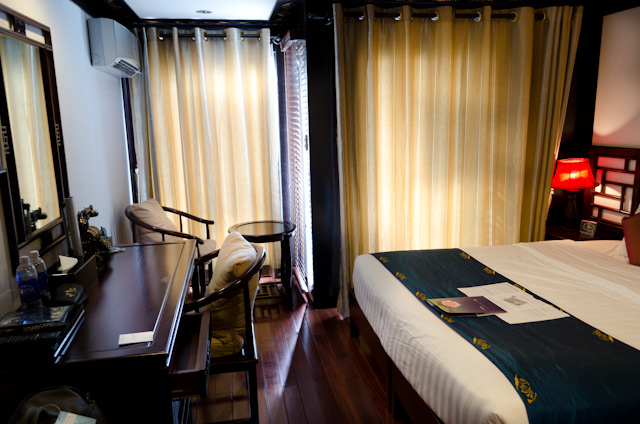 My stateroom, a Category A room on Deck 2 featuring both French and step-out balconies. Photo © 2013 Aaron Saunders