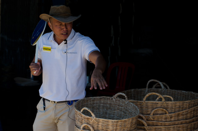 """Chanta, our """"Blue Group"""" tour guide while in Cambodia. Photo © 2013 Aaron Saunders"""