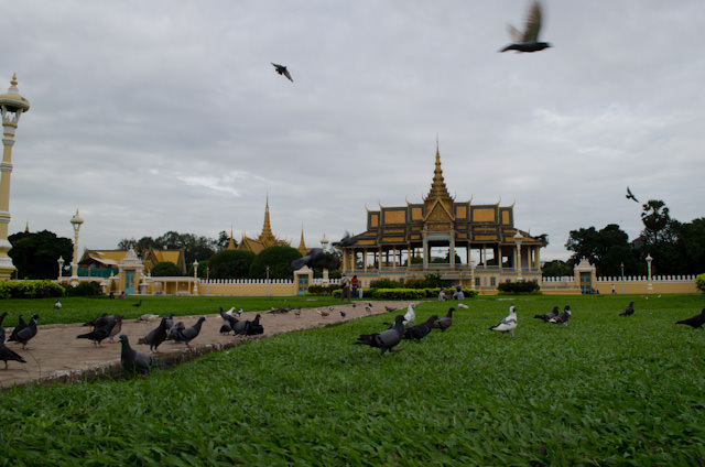 Phnom Penh's Royal Palace Park is just blocks away from the docking location of AmaLotus. Photo © 2013 Aaron Saunders