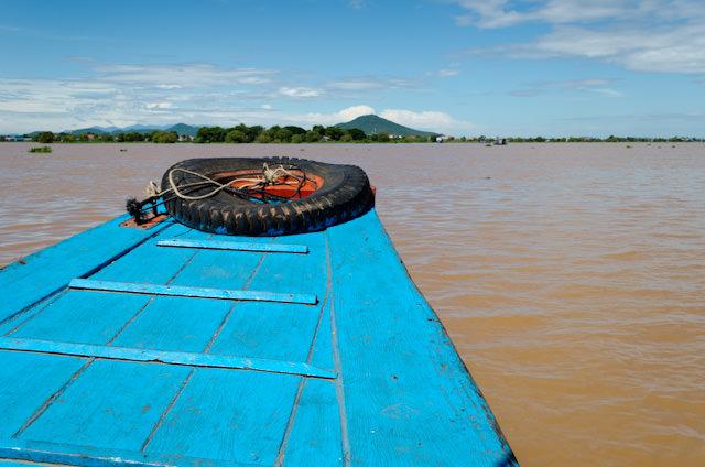 Heading for Kampong Chhnang aboard local boats! Photo © 2013 Aaron Saunders