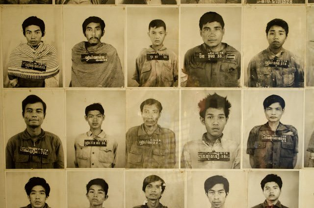 Each prisoner - mostly well-educated intellectuals and foreigners - was extensively documented by S-21's photographic team. Photo © 2013 Aaron Saunders