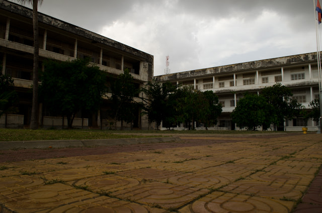 The Tuol Sleng S-21 Detention Center in Phnom Penh is now a Genocide Museum, left very much as it was when it was abandoned in 1979 by the fleeing Khmer Rouge. Photo © 2013 Aaron Saunders