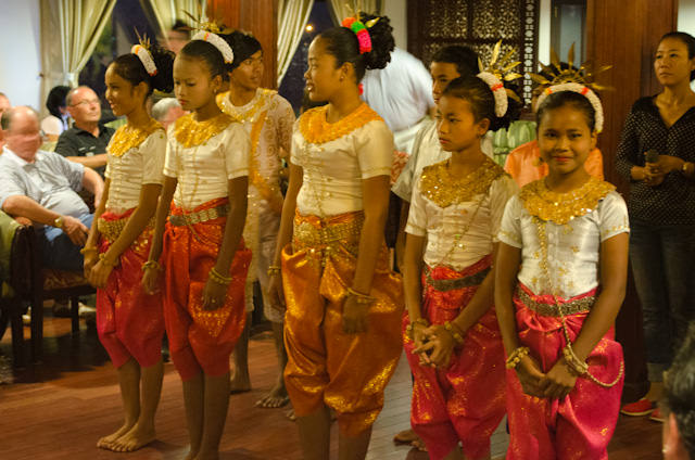 A performance onboard the AmaLotus by some young Cambodian Khmer girls lifted everyone's spirits. Photo © 2013 Aaron Saunders