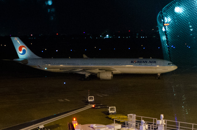 My Korean Air Airbus A330-300 arrives at Gate 19 at Ho Chi Minh International. Photo © 2013 Aaron Saunders