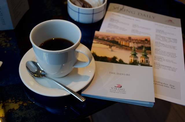 Special German coffee was served along with Gluhwein in the Viking Lounge in Regensburg. Photo © 2012 Aaron Saunders