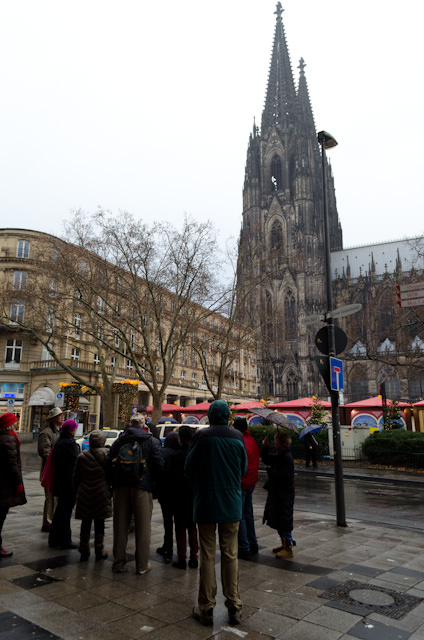 Guests from Viking Baldur group 20B admire Cologne's imposing Dom, or Cathedral. Photo © 2013 Aaron Saunders