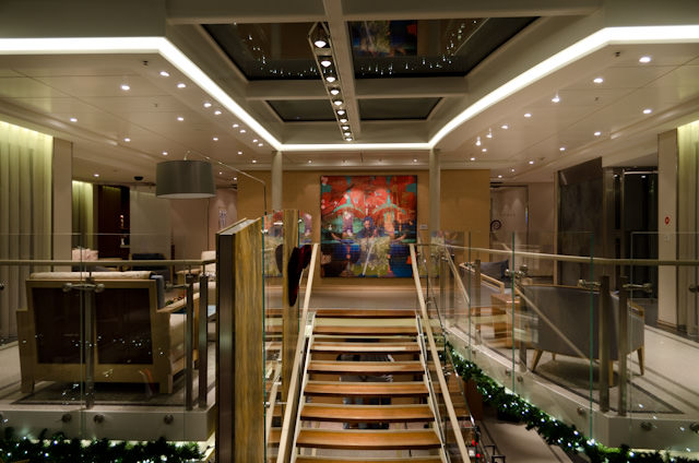 The Atrium aboard Viking Baldur this evening. Photo © 2013 Aaron Saunders