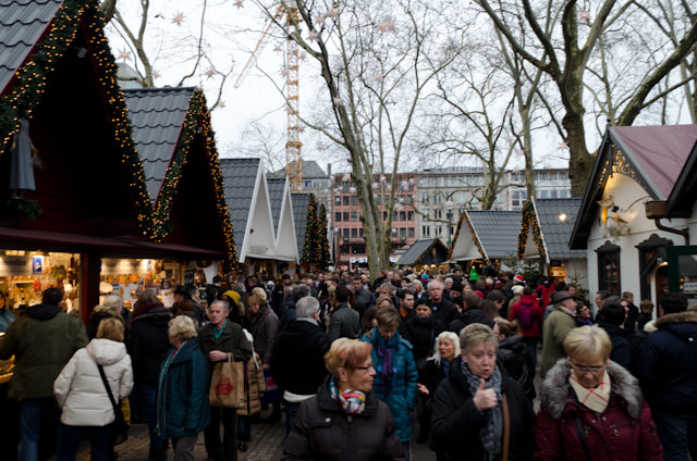 Packed crowds stroll Cologne's 'Market of Angels.' Photo © 2013 Aaron Saunders