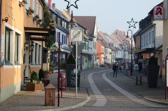 Breisach's Neutorstrasse, a pedestrian-only shopping zone. Photo © 2013 Aaron Saunders