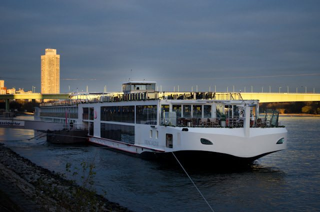 Viking Baldur alongside in Cologne on the last German stop of our Rhine itinerary.Photo © 2013 Aaron Saunders