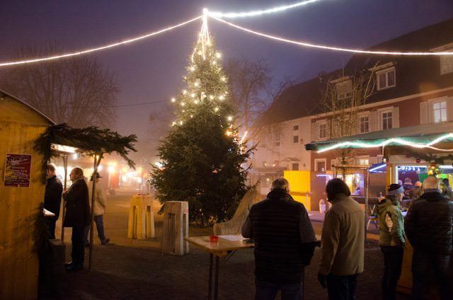 The Breisach Christmas Market, by night. Photo © 2013 Aaron Saunders