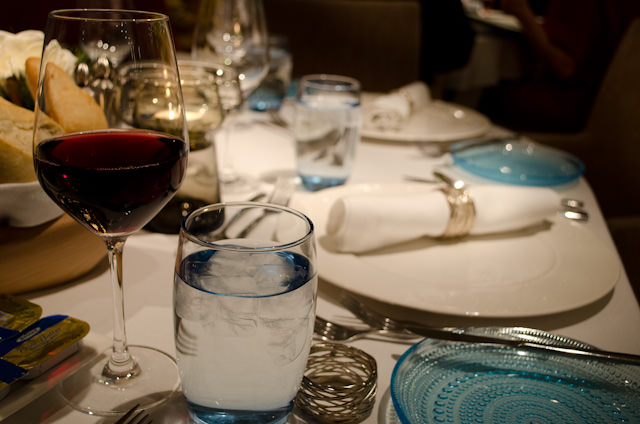 Table settings aboard Viking Baldur tonight - ready for dinner! Photo © 2013 Aaron Saunders