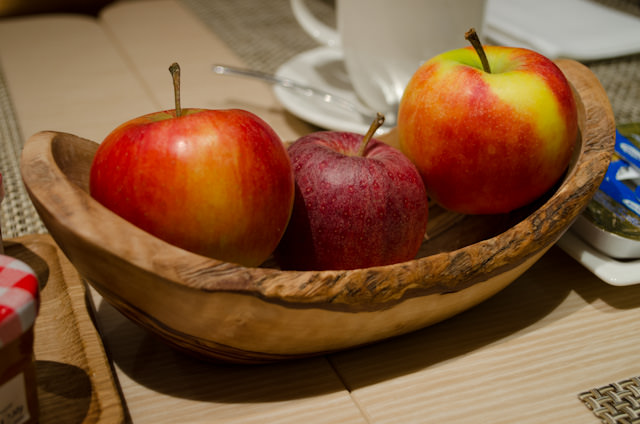 Dear Viking: please sell these wooden fruit bowls in the gift shop! Photo © 2013 Aaron Saunders