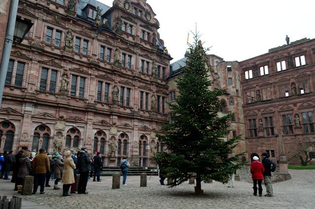 Touring the remains of Heidelberg Castle - in ruins, but still grand. Photo © 2013 Aaron Saunders