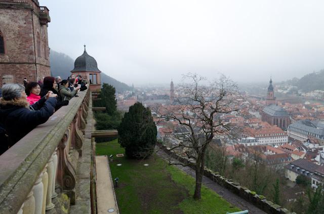 Overlooking Heidelberg from Heidelberg Castle. Photo © 2013 Aaron Saunders