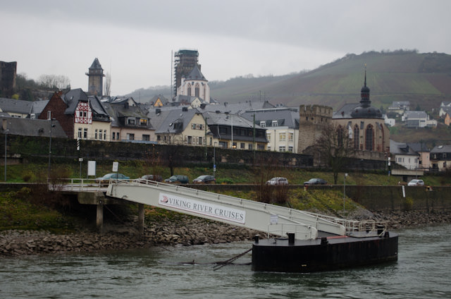 Numerous towns and castles were also part of our morning of scenic cruising. The town of Oberwesel, at kilometre 550, is pictured here. Photo © 2013 Aaron Saunders