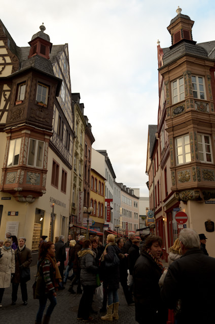 The historic buildings of Koblenz add a whimsical touch that makes the town's Christmas Markets come alive. Photo © 2013 Aaron Saunders