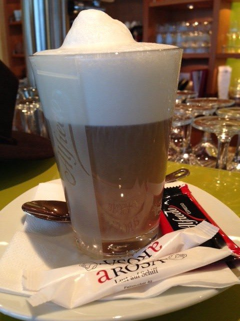 I 've enjoyed the latté macchiatos on A-ROSA Silva. @ 2013 Ralph Grizzle