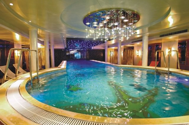 Both Century Legend and Century Paragon boast an indoor swimming pool. Photo courtesy of Uniworld Boutique River Cruise Collection