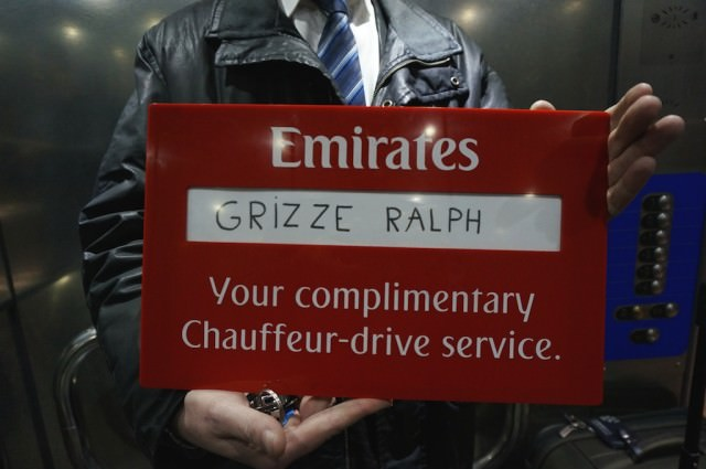 Emirates Business Class even gets you complimentary chauffeur-drive service. © 2014 Ralph Grizzle