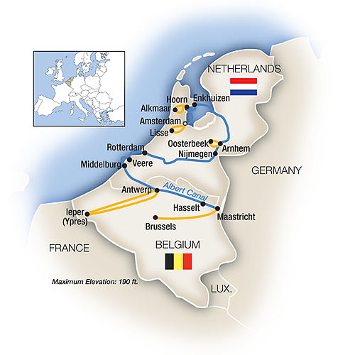 Tauck's Belgium and Holland itinerary will take us on a journey through history. Illustration courtesy of Tauck