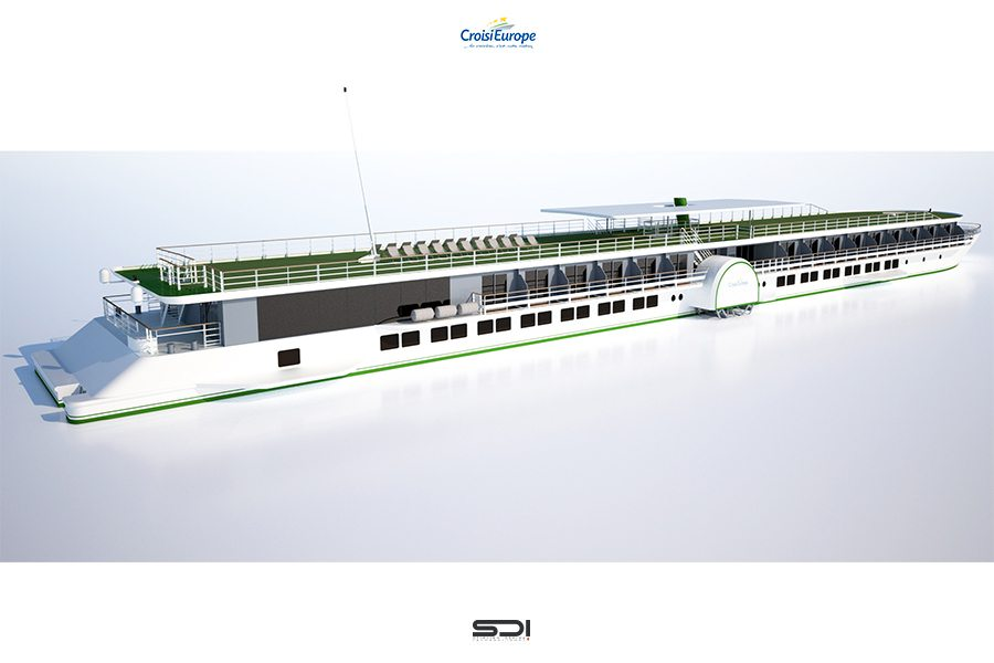 Rendering of Loire Princesse. Courtesy CroisiEurope