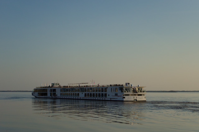 Viking Forseti cruises off Blaye, France on March 20, 2014. Photo © 2014 Aaron Saunders