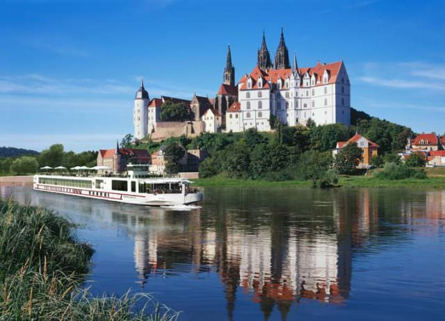 "Viking will take delivery of 12 new river cruise ships in 2015, including two ""Longship-esque"" vessels along the Elbe River. Rendering courtesy of Viking."