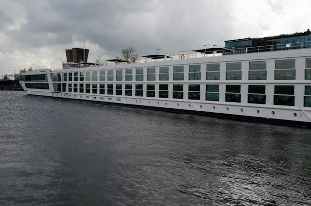 Emerald Waterways first vessel, Emerald Sky, berthed in Amsterdam prior to her christening. Photo © 2014 Aaron Saunders