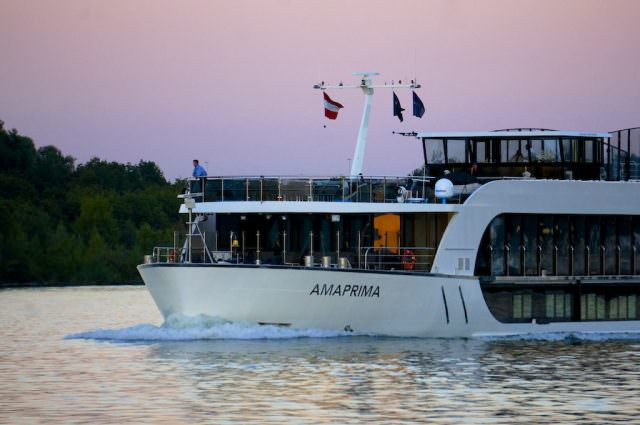 AmaPrima on the Danube, approaching Vienna. @ 2013 Ralph Grizzle