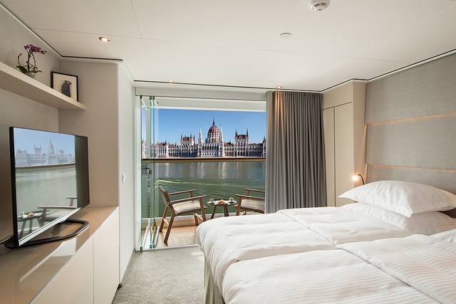 Staterooms aboard Emerald Waterways are crisp and modern. Photo courtesy of Emerald Waterways