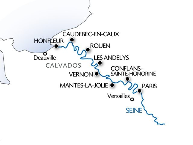 CroisiEurope's Seine itinerary will take River Cruise Advisor's Ralph Grizzle to the beaches of Normandy and back. Illustration courtesy of CroisiEurope.