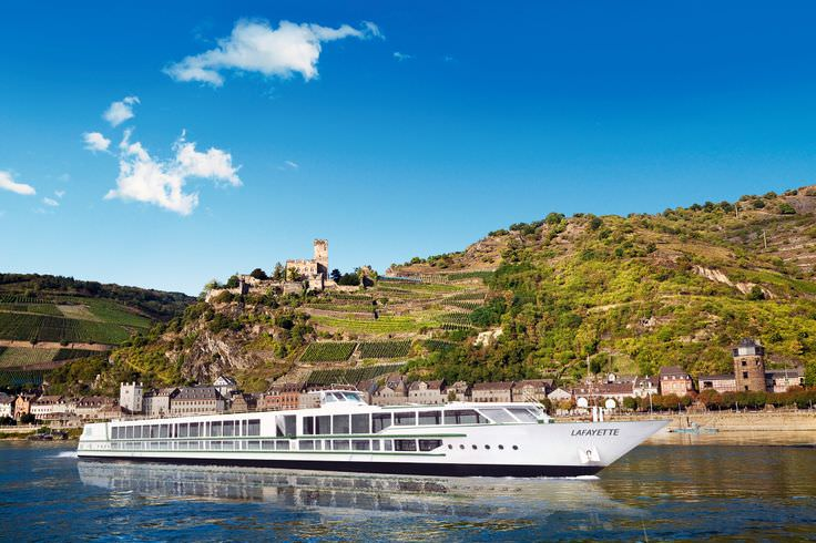 CroisiEurope's Lafayette sails the Rhine, carrying just 86 guests. Photo courtesy of CrosiEurope