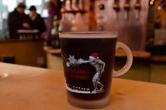 Enjoy a piping-hot cup of Gluhwein to ward off the chill! Photo © 2013 Aaron Saunders